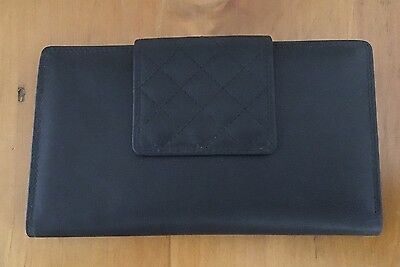 Ladies Black Leather Purse/Clutch/Wallet BNWT
