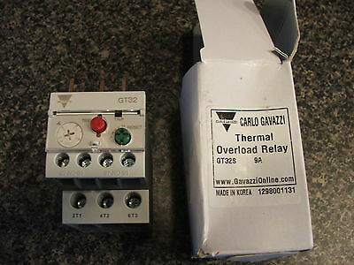 Carlo Gavazzi GT32S  6Amp to 9Amp Thermal Overload Relay