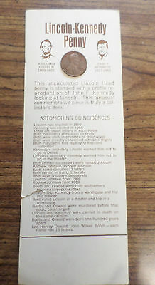1972 Uncirculated Lincoln Kennedy Penny On Original Card