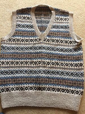 Men's 1940s Hand Knitted Tank Top/Sweater/Jumper