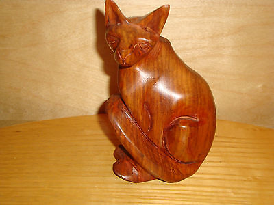 Wooden Wild Animal LEMUR Figurine Ornament, h 14cm