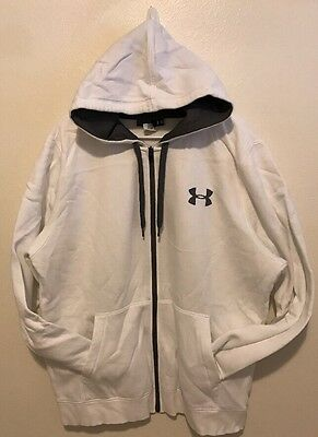 Men's Under Armour Full Zip Up Hoodie White Size Extra Large XL