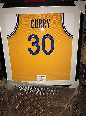 Stephen Curry Signed Basketball Best And Framed