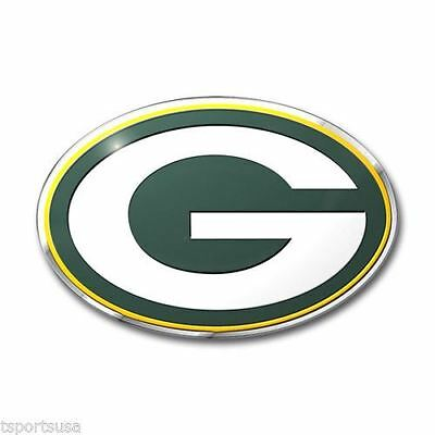 Green Bay Packers Emblem Sticker Raised 3D Metal Auto Emblem