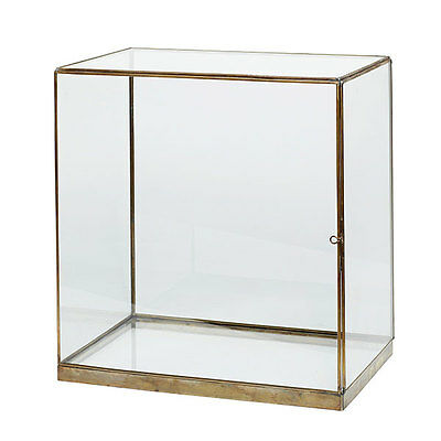Large Glass and Brass Display Cover Dome Box 42 cm Danish Design by Hubsch