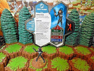 Agent Skahen - Heroscape - 2008 GenCon Exclusive - Limited Edition