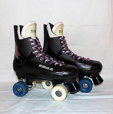 Bauer Turbo Quad Roller Skates With Skate Socks UK7