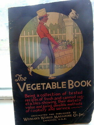 """""""The Vegetable Book"""" A Booklette copyrighted 1928 Black Americina"""