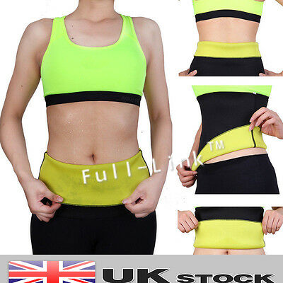 Hot Neoprene Thermo Sweat Body Shaper Slimming Waist Trainer Cincher Yoga Belt