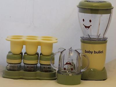 Magic Bullet Baby Healthy Food Making System Infant Blender Storage Containers
