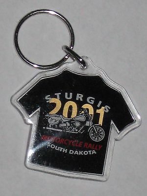 Sturgis Keychain 61st Annual Motorcycle Rally & Races SD 2001 T-Shirt Shape