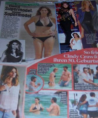 Cindy Crawford 81 pc German Clippings Collection ADs