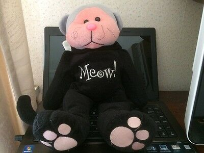 Beanie kids cuddly kid meow the bear good used condition WITH TAGS
