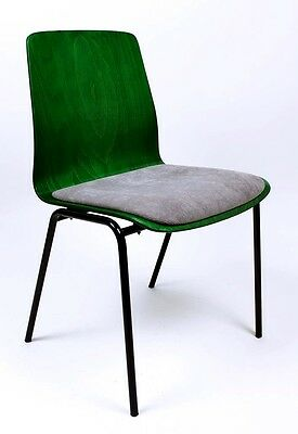 Vintage  Mid Century 1960'  German  Bent Plywood Chair By Hiller Germany