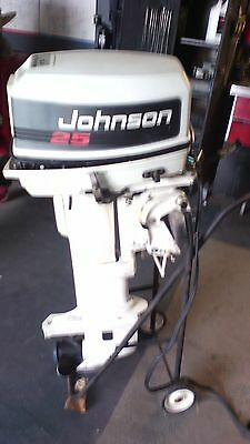 Johnson 25hp Outboard Motor Long Shaft, Electric Start