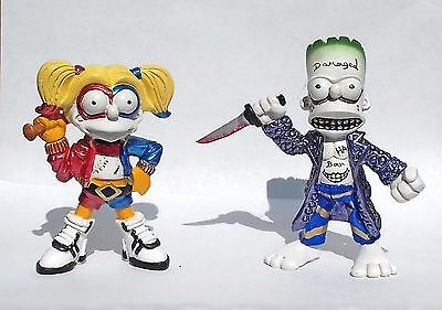simpson parody,  suicide squad, bart  joker and lisa harley quinn,  mexican toy