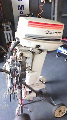 Johnson 35hp Outboard Motor Long Shaft, Electric Start