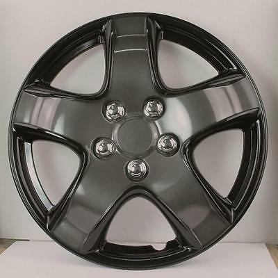 "Quality 15"" Wheel Covers Ice Black And Charcoal Set Of 4"