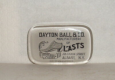 Paperweight / Dayton Ball & C0.manufacturers Of Lasts 58 Union St. Albany,n.y.