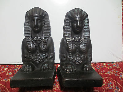 Outstanding Egyptian Revival Sphinx Cast Iron Decorative Bookends Free Shipping