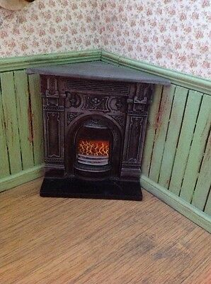 12th Scale Resin Corner Fireplace