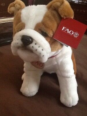 FAO Schwarz NWT Stuffed Bulldog Puppy Animal Brand New HTF