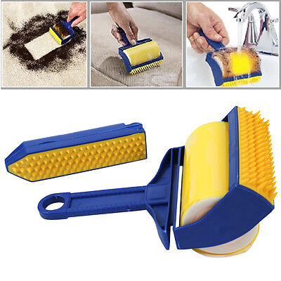 Reusable Pet Hair Cleaner Sticky Picker Remover Brush Clothes Fluff Lint Roller