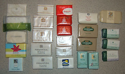 25 Vintage Assorted Hotel / Motel Soap Sample Bars With Original Wrappers
