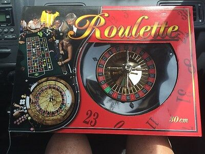 """Roulette Wheel Set Game 30cm 12"""" complete With Chips, Mat, Stick"""