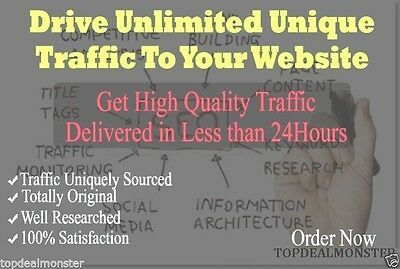 Unlimited Website Traffic For 90 Days + Adsense / SEO Safe + 100% Rank Improve