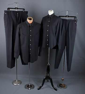 Vtg 50s Lot of 2 Mens Womens His/Hers Western Outfits L/XL #1279 1950s Wool Suit
