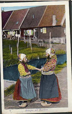Cpa Pays Bas 1923 - Costumes Traditionnels -