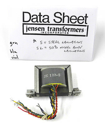 Jensen JE-123-S Quadfilar 600 Ohm Line Output Transformer, 1:1 or 1:2 Ratio. TR