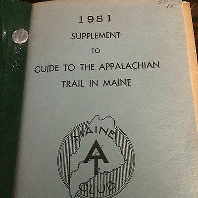 New Listing! Hiking  Guide To  Appalachian Trail In Maine No. 4 With Many Maps