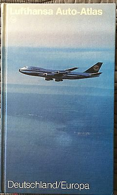 Lufthansa Issued Road Atlas Germany, Europe, Hardcover 1988