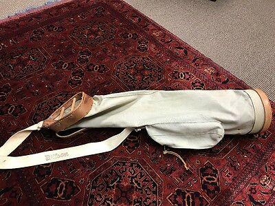 Vintage Wilson Canvas & Leather Golf Bag Hickory Used