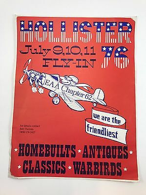 Experimental Aircraft Assoc Fly-In EAA Hollister CA 1976 Chapter 62 Poster Vtg