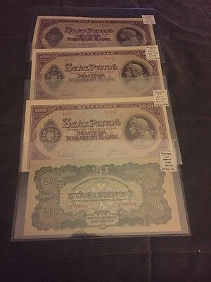 Hungary Banknotes 1944 And 1945 20 And 100 Penco Lot #12