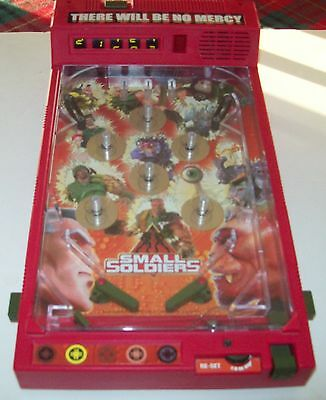 """DreamWorks 1998 Small Soldiers """"There will be no Mercy"""" Pinball Game Toy Tested"""