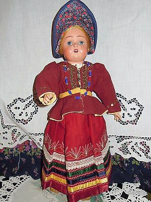 Beautiful dress for Russian antique doll or for any antique dolls.