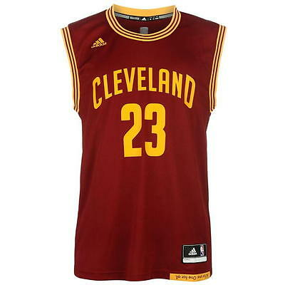 Bnwt Camiseta Nba Jersey Cleveland Cavaliers Lebron James Red Shirt Maglia