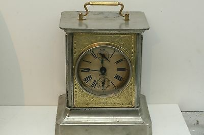 Antique KIENZLE Carriage Clock Music Box Chime Victorian w/Key