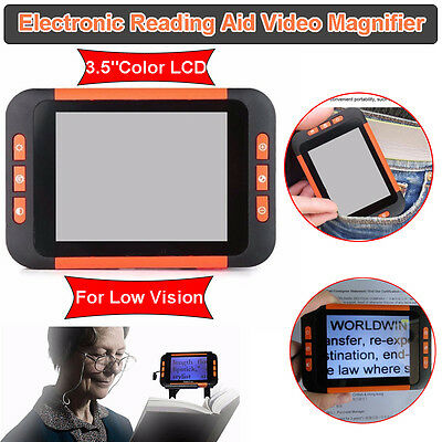 """Portable 3.5"""" Color LCD Pocket Electronic Video Magnifier Low Vision Read Aid"""