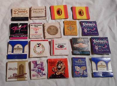 Vintage Lot 19 Las Vegas NV Matchbooks Casino Hotel Horseshoe Sands Dunes Etc