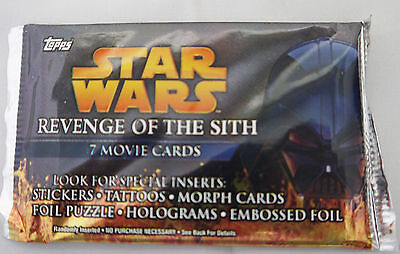 Topps Star Wars Revenge of the Sith Unopened Collectors Movie Cards pack of 7