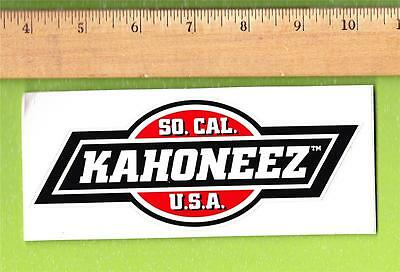 SO. CAL. KAHONEEZ U.S.A STICKER NEW OLD STOCK free shipping
