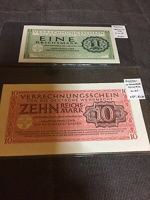 Germany Banknotes Lot Of 2 1944 Lot A