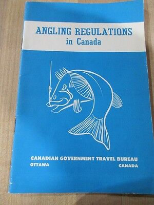 1960 Vintage Angling Regulations in Canada 1960 covers all Provinces