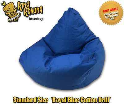 Blue Bean Bag Chair Quality New Large Beanbag Lounge Soft Gaming Cinema Theatre