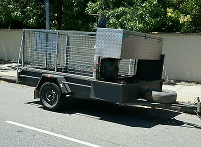 Mower Trailer 7x5 Single Axle with 3ft cage & ramp